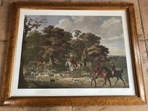 Old print English hunting scene nice frame wooden frame in Ramstein, Germany