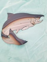 Metal Art Jumping Salmon 3 left now in Tacoma, Washington