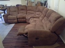 Large, Leather, Double Recliner, sectional in The Woodlands, Texas