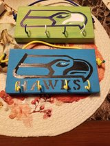 Wood Key Racks Seahawks , Chevy and Fish in Tacoma, Washington
