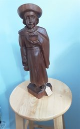 Ecuadorian hand carved monk in Kingwood, Texas
