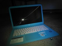 light blue laptop in Little Rock, Arkansas