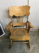 Antique Cane bottom rocking chair in Orland Park, Illinois