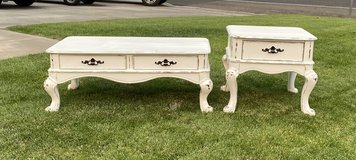 $185 Shabby Chic Coffee Table w/Matching End Table in Fort Irwin, California