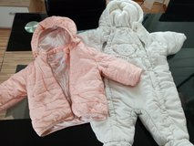 Baby Jacket in pink and jumpsuit in White, size 68 (3-6 months) in Stuttgart, GE