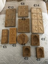 Wooden Cookie Molds in Ramstein, Germany