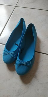 Shoes blue in Ramstein, Germany