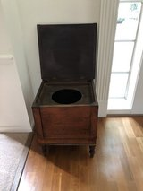 Antiques Wooden Potty Seat & Claw Foot Flip Top Game Table in Spring, Texas