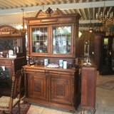 beautiful Henri II dining room hutch with stained glass in Wiesbaden, GE