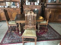 antique Henri II dining room set with 4 chairs in Spangdahlem, Germany