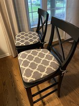 Set of 2 Like New Pottery Black Counter Stools in Bartlett, Illinois