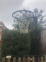 Metal Netball Post on wheels in Lakenheath, UK