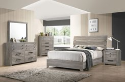 New! Trendy light rustic bed set in Camp Pendleton, California