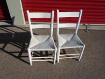 Pair of White chairs in Yorkville, Illinois