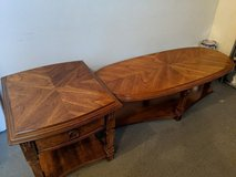 Wood coffee table and end table in Orland Park, Illinois