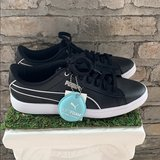 NWT And Box Women's Puma Vikky V2 Black Leather Sneaker in Fort Bliss, Texas