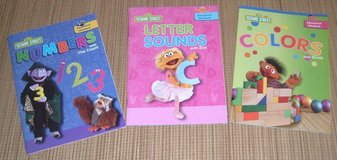 NEW 3 Sesame Street Educational Workbooks Numbers Letter Sounds Colors in Morris, Illinois