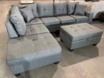 Modern Light Gray Fabric Reversible Sectional in Pasadena, Texas