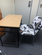 small desk and chair in Okinawa, Japan