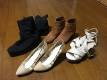 (Used) Assorted Women's Shoes (4 Pair) (US Size 7.5) in Okinawa, Japan