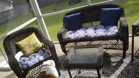 Outdoor resin wicker set in Cherry Point, North Carolina