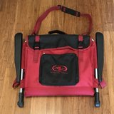 2 Athletic Works Folding Stadium Chairs with Arm Rests,Carry Strap & Storage Pocket EUC in Fairfield, California