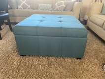 Teal Tufted Ottoman in Vacaville, California