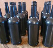 Black glass bottles in Fort Bliss, Texas