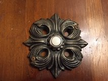 Ornate Gothic Doorbell Button Pewter Finish in Batavia, Illinois