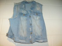 Highway Jeans Sleeveless Destroyed Jean Jacket in Fort Campbell, Kentucky