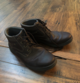 Men's size10.5 shoe/boots leather in New Lenox, Illinois