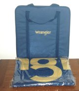 NEW Wrangler Stadium Seat Chair w Matching Cover Up Fleece Throw Blanket in Morris, Illinois