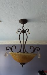 Stately ceiling light fixture in Houston, Texas