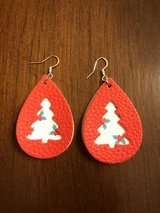 Handmade Faux Leather Christmas Earrings in Clarksville, Tennessee