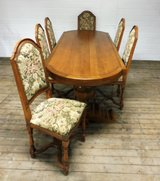 Massive Solid Oak Table with 6 Chairs in Ramstein, Germany