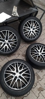 Lexus and Toyota 225/45 /17 all season tires with rims in Ramstein, Germany
