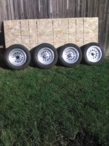 "American racing rims 15"" w/Uniroyal tires 60'series in Plainfield, Illinois"