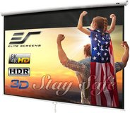Elite Screens 100-INCH Manual Pull Down Projector Screen - New! in Bolingbrook, Illinois