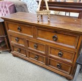 Solid Wood Dresser with Mirror in Alamogordo, New Mexico