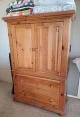 Solid Oak Armoire in Fort Bliss, Texas