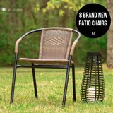 8 Patio Chairs (Brand NEW) (obo) in Joliet, Illinois