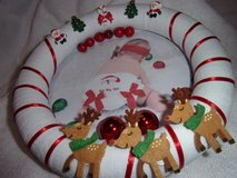 Merry christmas Baby wreath ho ho ho nursery decor baby shower 10 inches in Fort Hood, Texas