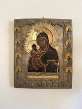 Russian Orthodox Icon Oil Painting w/ Oklad in Miramar, California