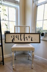 g a t h e r  wooden sign with frame in Fort Leonard Wood, Missouri