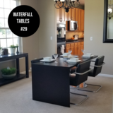 Black waterfall tables (2 available) in Yorkville, Illinois