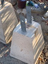5 x cement post holders in Yucca Valley, California