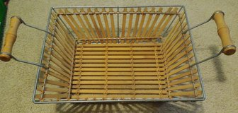 Display basket with metal and handles. in Joliet, Illinois