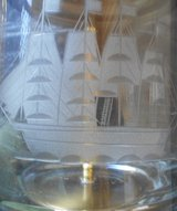 Hand Etched Lamp - with New Shade in Alamogordo, New Mexico