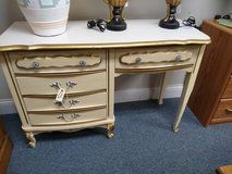 Student desk white with gold trim in St. Charles, Illinois