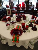 Ruby red cranberry glass in St. Charles, Illinois